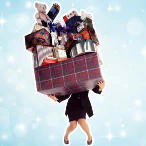 woman-carrying-pile-of-gifts-holiday-mental-health