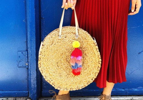 DIY circle straw bag