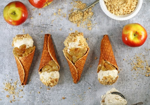 Keto apple cobbler ice cream & waffle cones are a decadent fall dessert