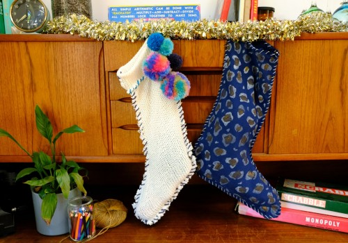 diy holiday stockings